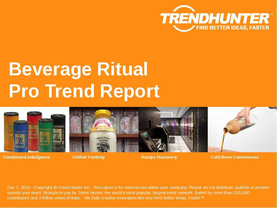 Beverage Ritual Trend Report Research