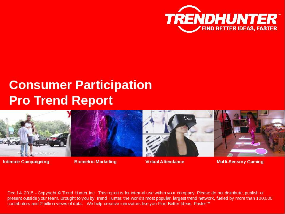 Consumer Participation Trend Report Research