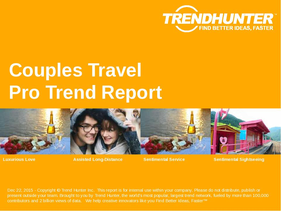 Couples Travel Trend Report Research
