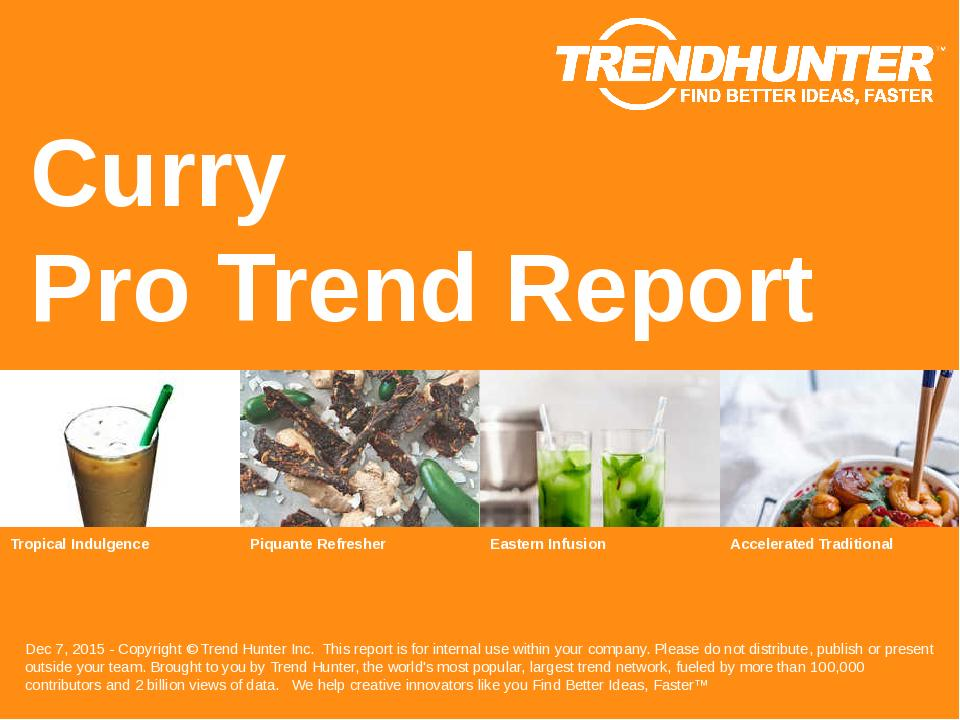 Curry Trend Report Research