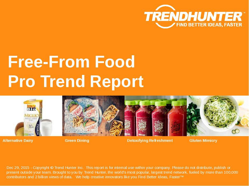 Free-From Food Trend Report Research