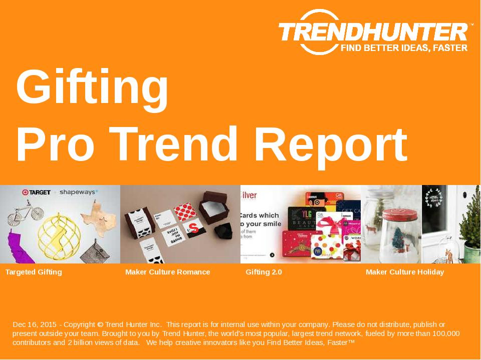 Gifting Trend Report Research