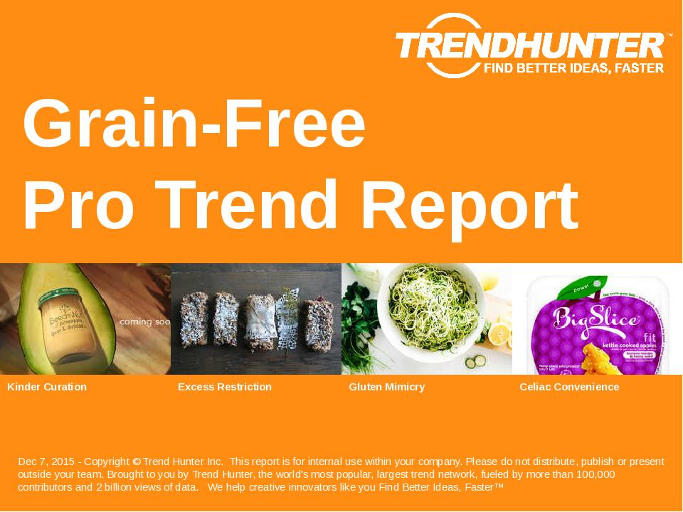 Grain-Free Trend Report Research