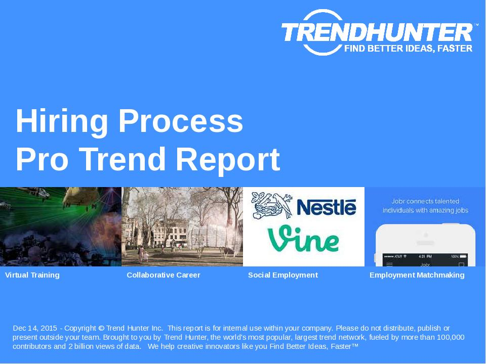 Hiring Process Trend Report Research