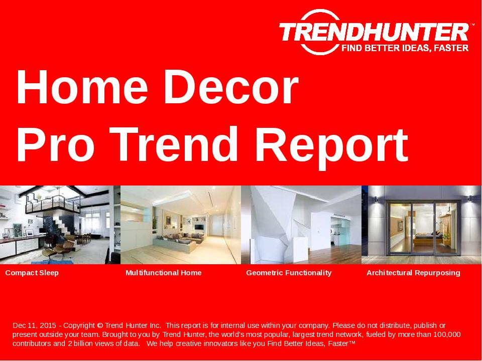 Home Decor Trend Report Research