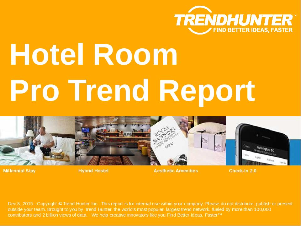 Hotel Room Trend Report Research