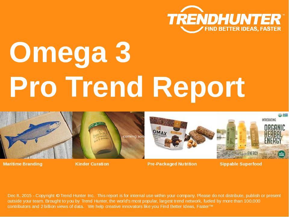 Omega 3 Trend Report Research