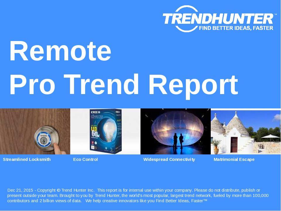 Remote Trend Report Research