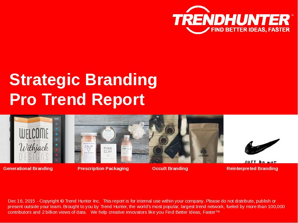 Strategic Branding Trend Report Research