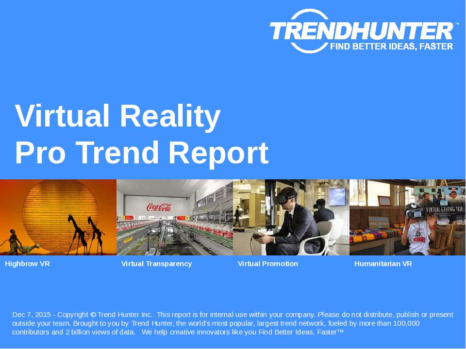 Virtual Reality Trend Report Research