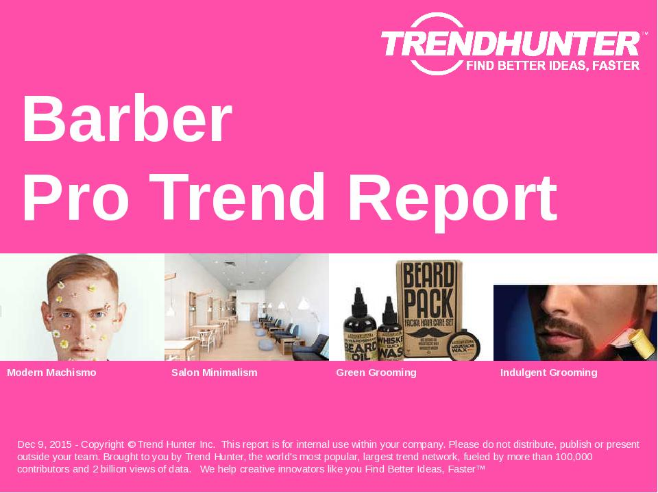 Barber Trend Report Research