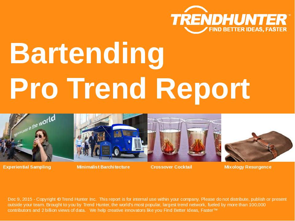 Bartending Trend Report Research