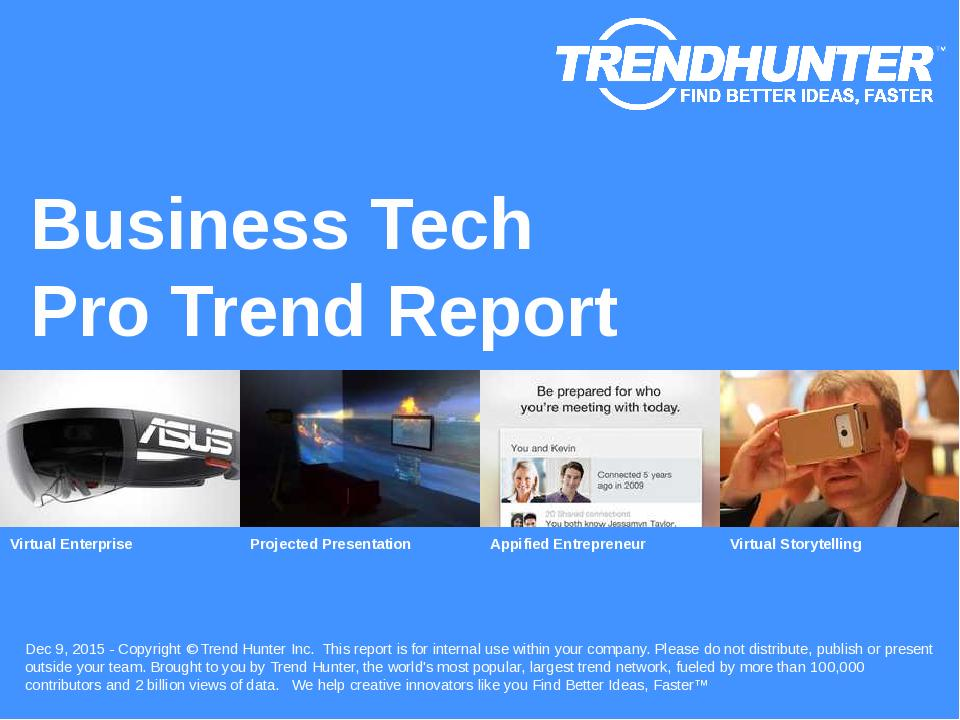 Business Tech Trend Report Research