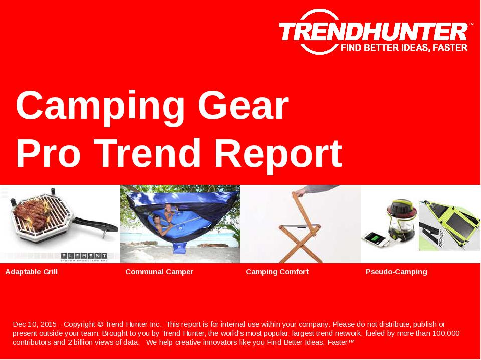 Camping Gear Trend Report Research