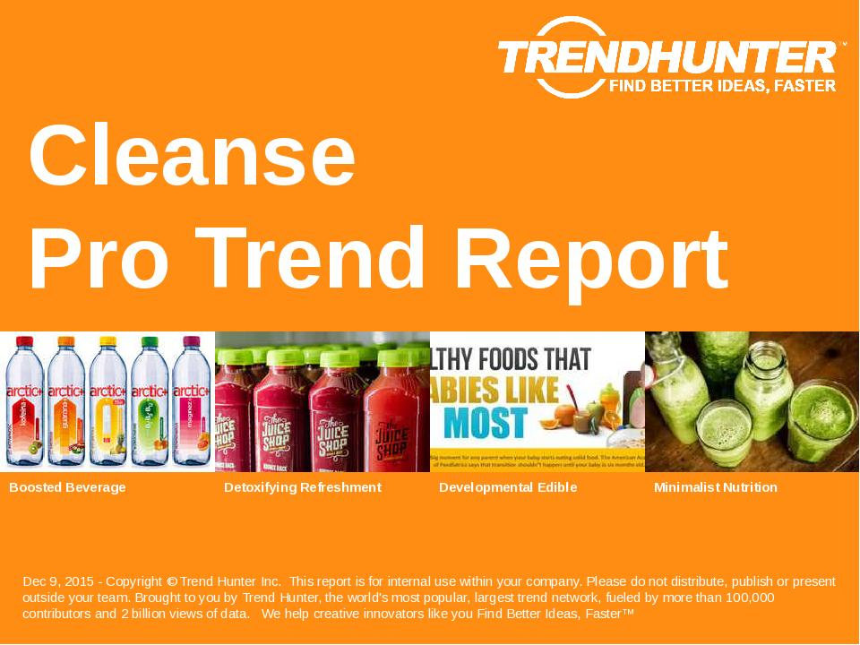 Cleanse Trend Report Research