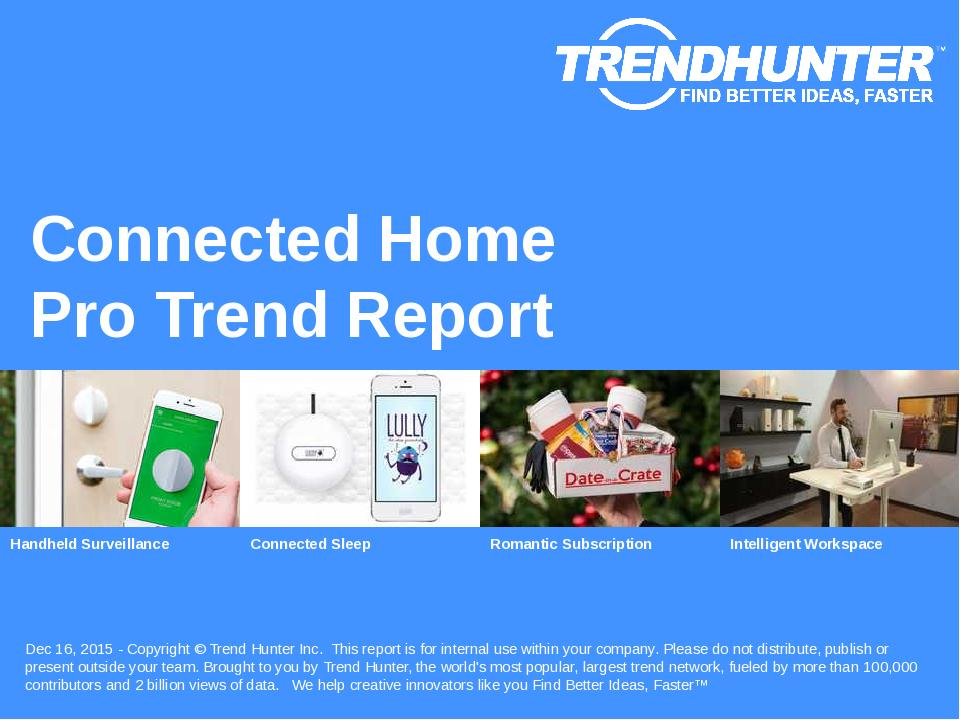 Connected Home Trend Report Research
