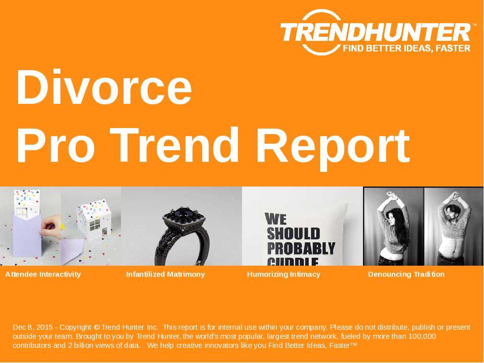Divorce Trend Report Research