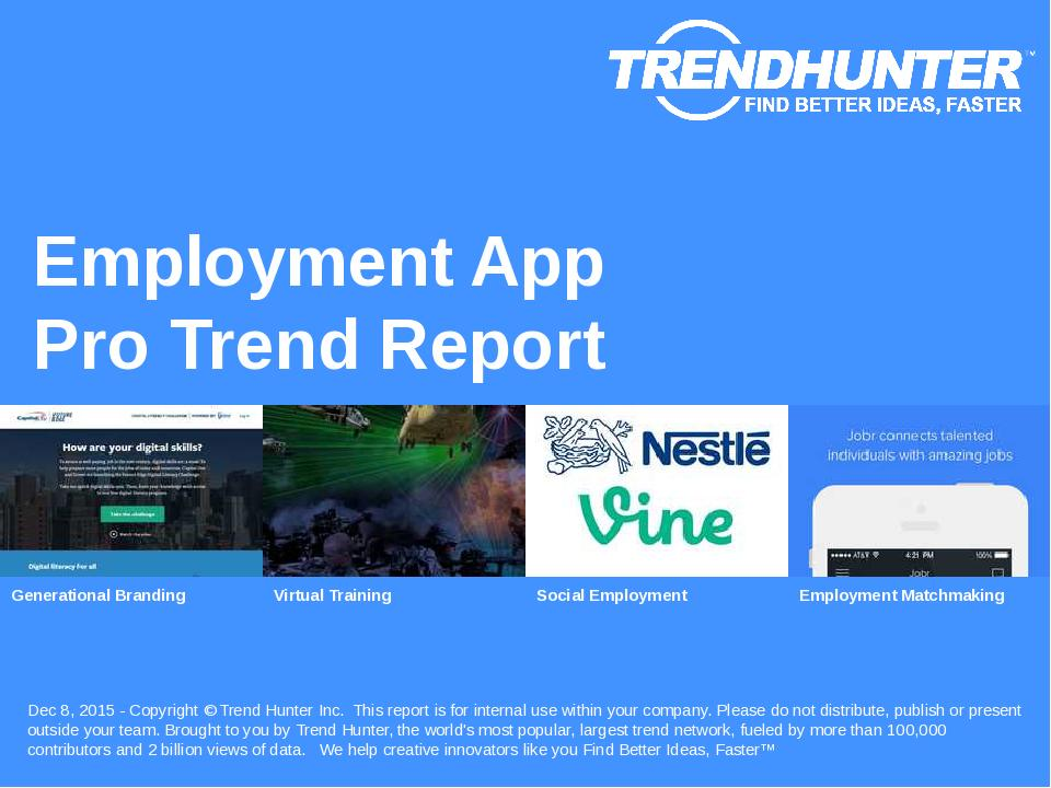 Employment App Trend Report Research