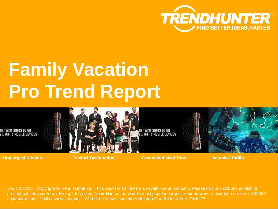 Family Vacation Trend Report Research
