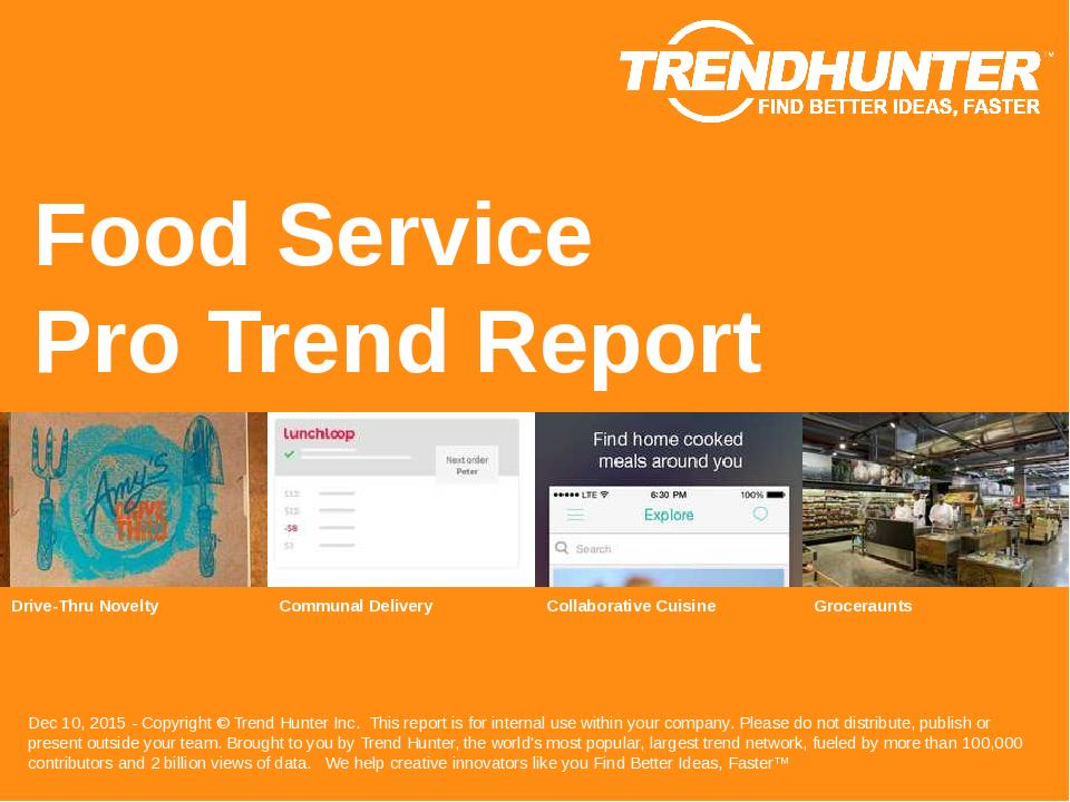 Food Service Trend Report Research