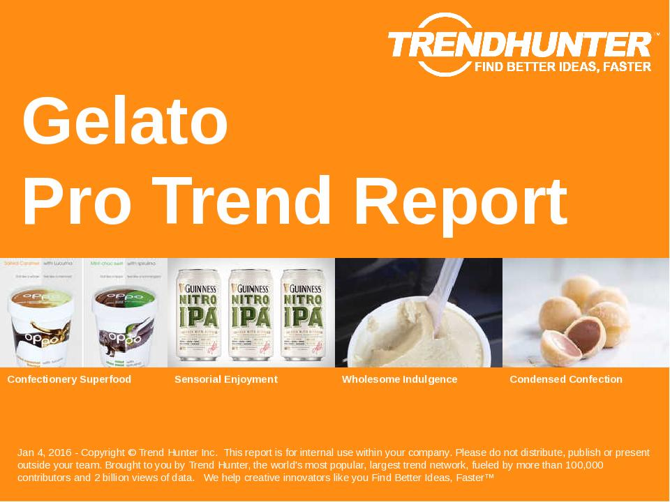 Gelato Trend Report Research