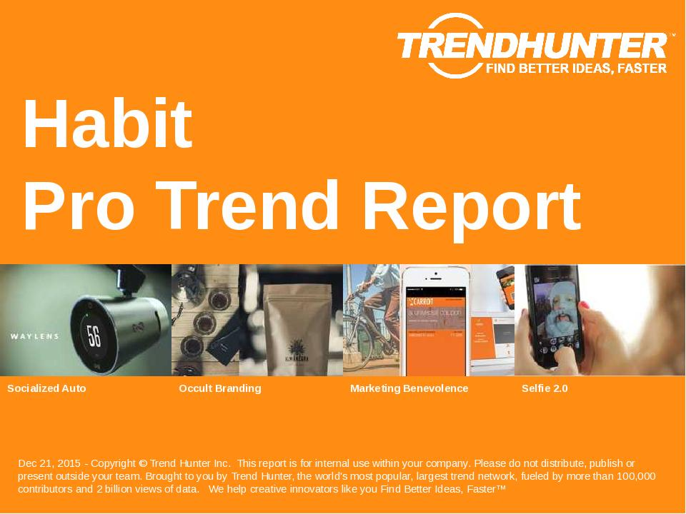 Habit Trend Report Research