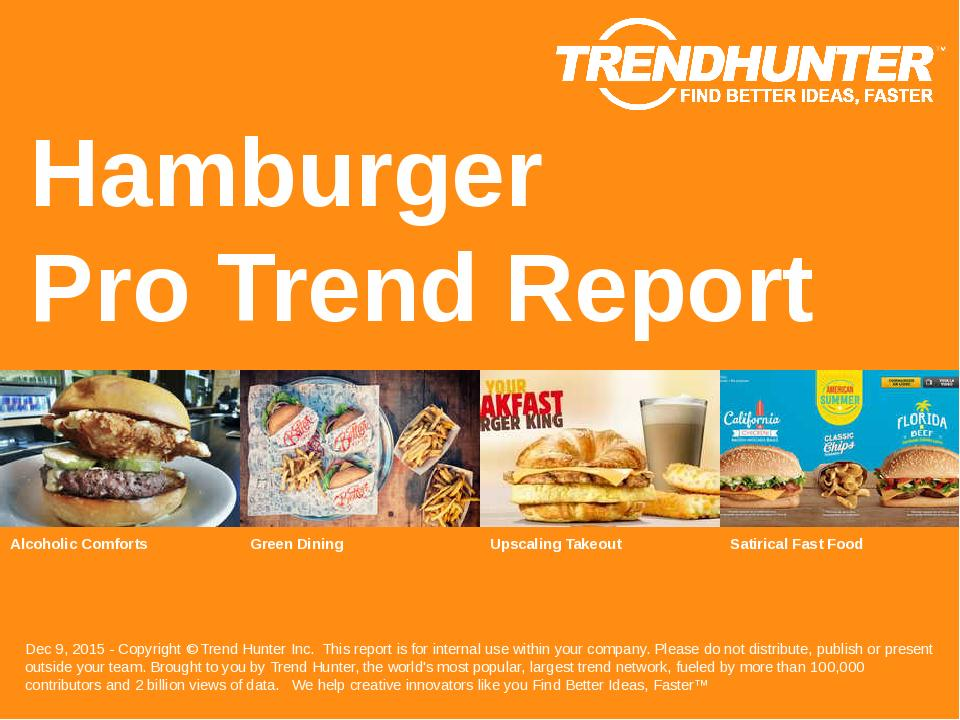 Hamburger Trend Report Research