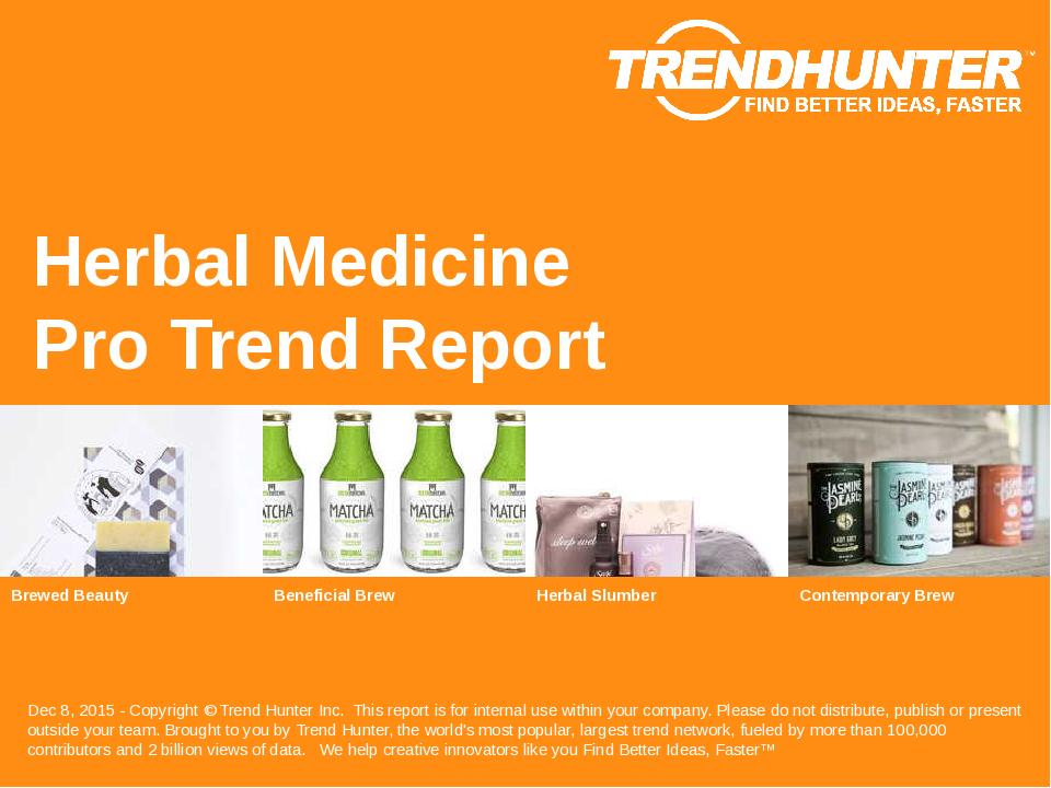 Herbal Medicine Trend Report Research