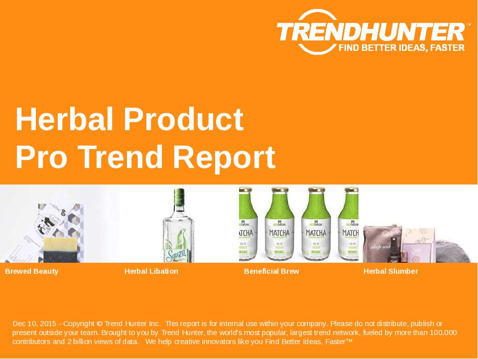 Herbal Product Trend Report Research