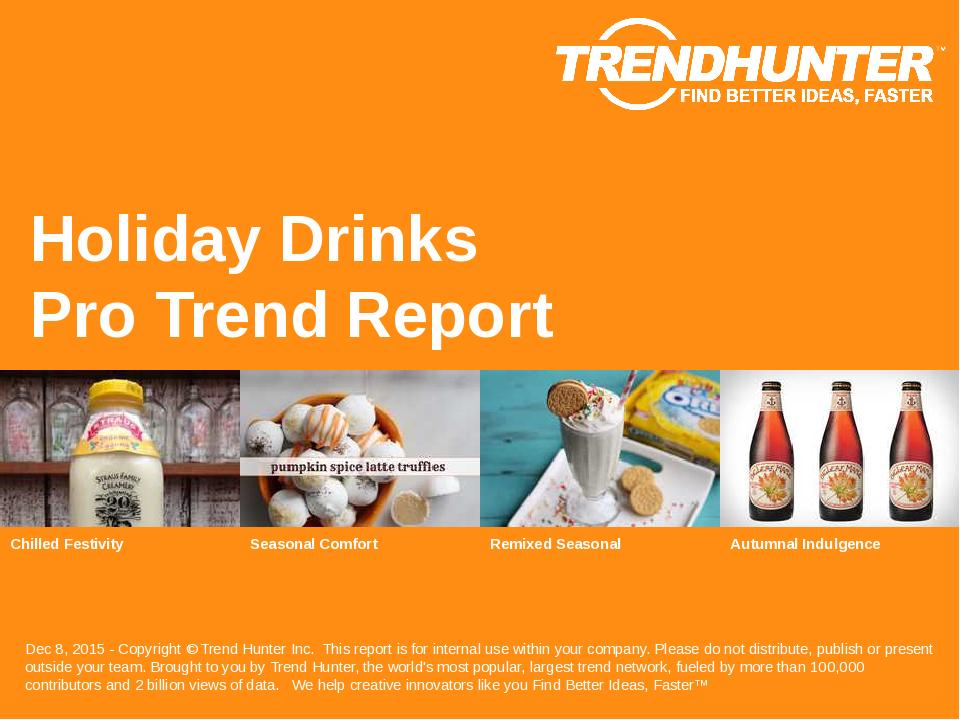Holiday Drinks Trend Report Research