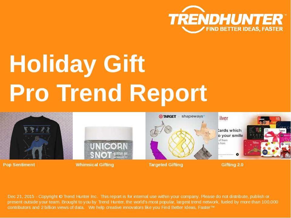 Holiday Gift Trend Report Research