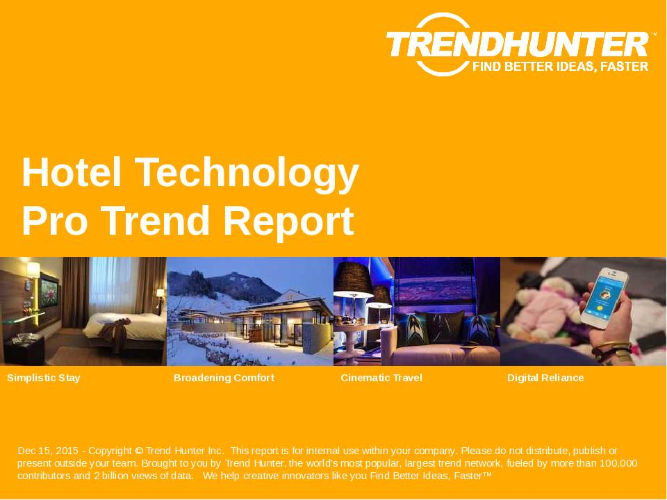 Hotel Technology Trend Report Research