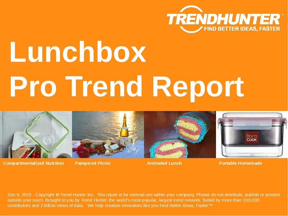 Lunchbox Trend Report Research