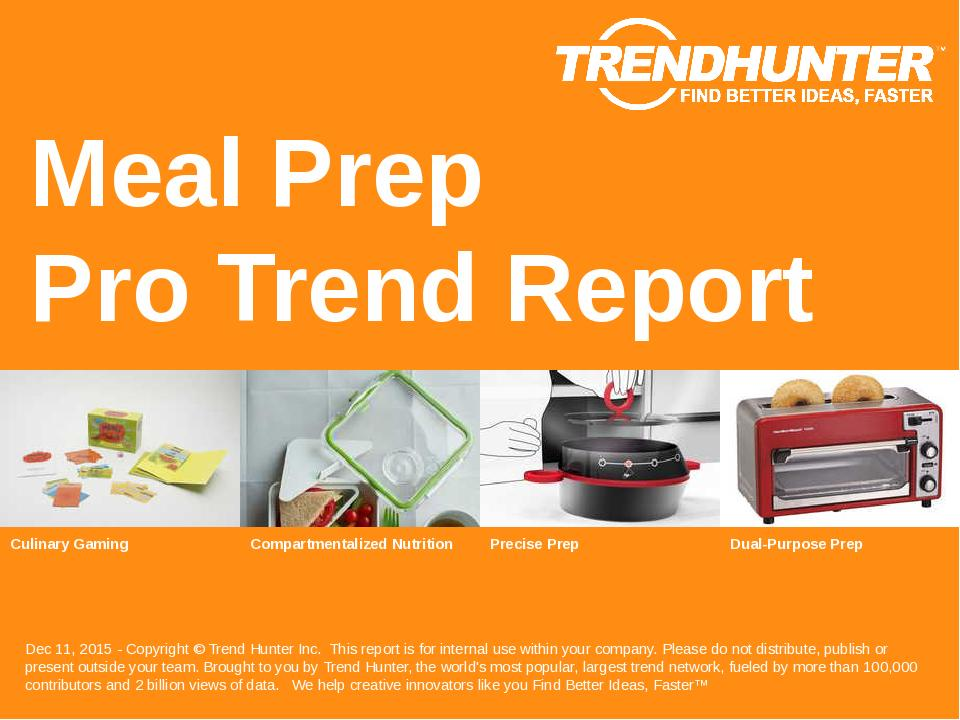 Meal Prep Trend Report Research