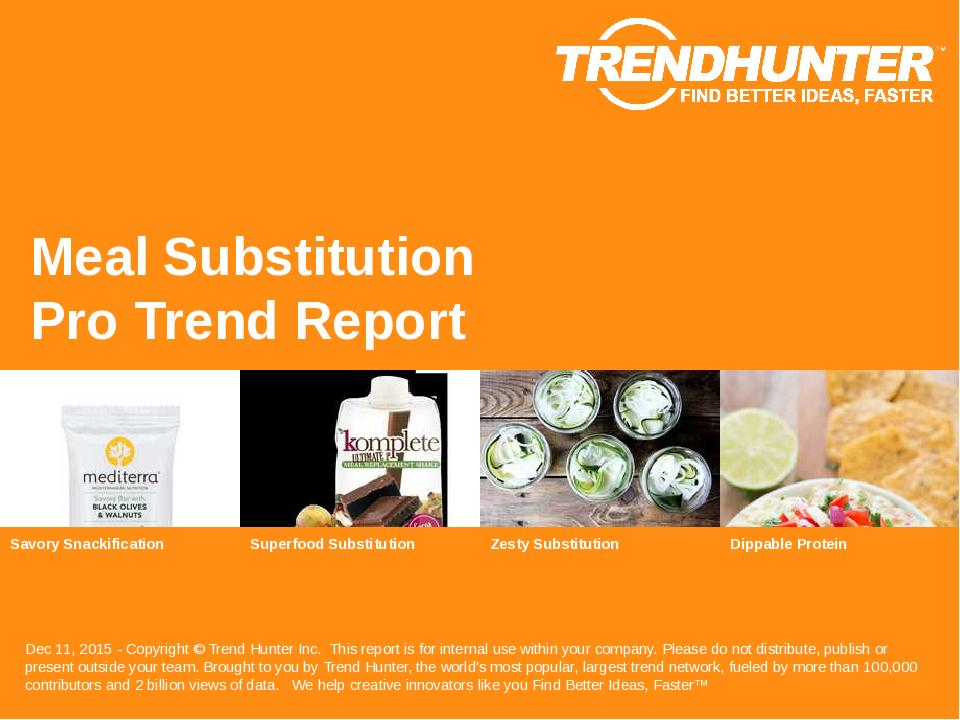 Meal Substitution Trend Report Research