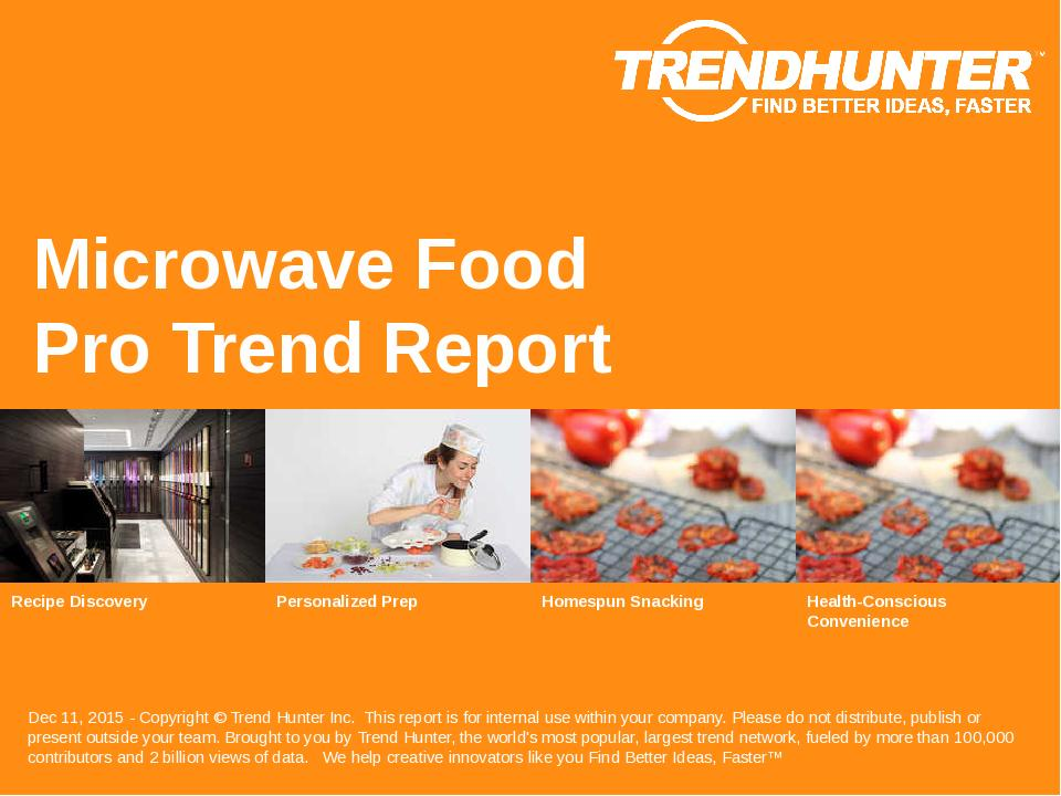 Microwave Food Trend Report Research