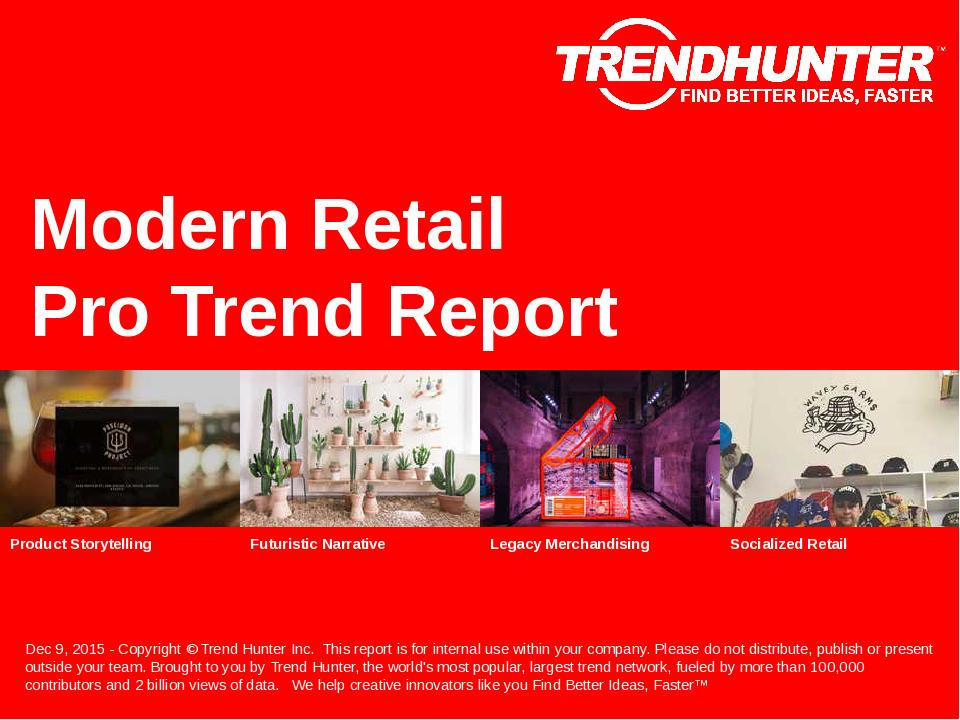 Modern Retail Trend Report Research