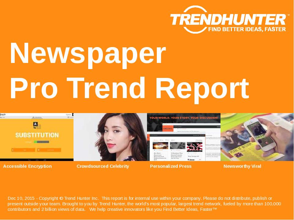 Newspaper Trend Report Research