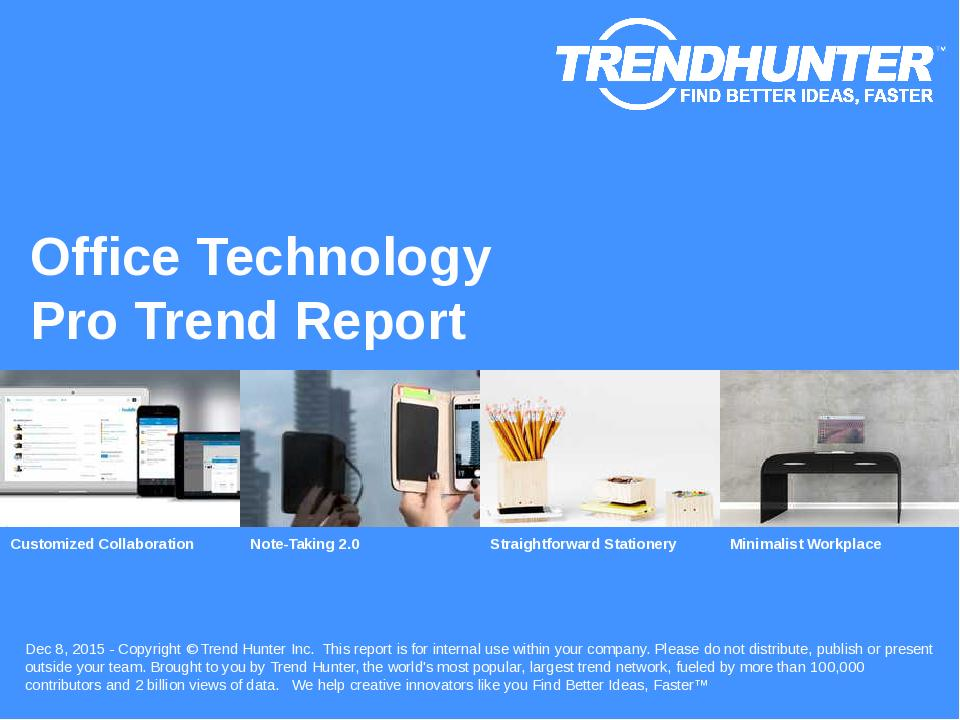 Office Technology Trend Report Research