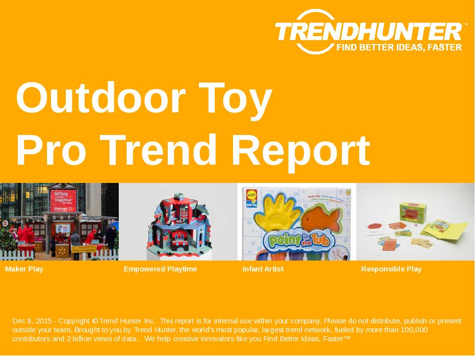 Outdoor Toy Trend Report Research