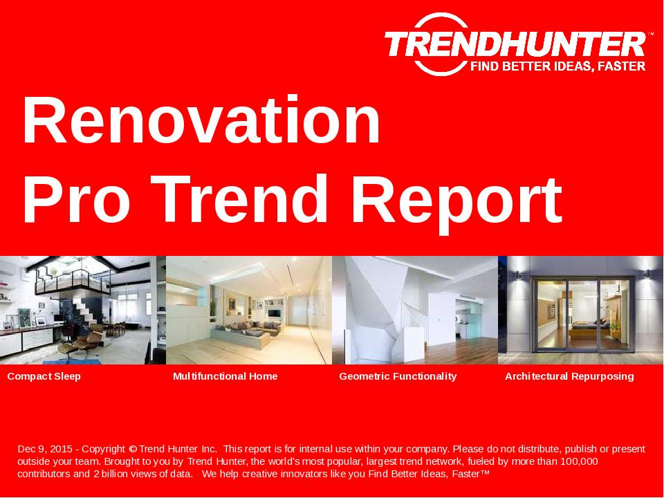 Renovation Trend Report Research