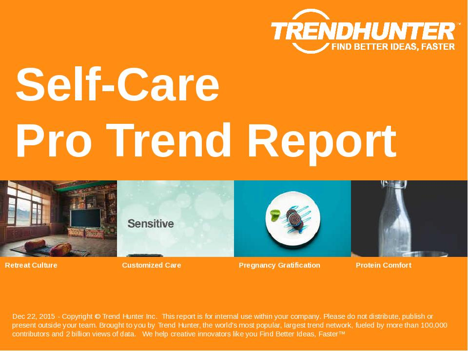Self-Care Trend Report Research