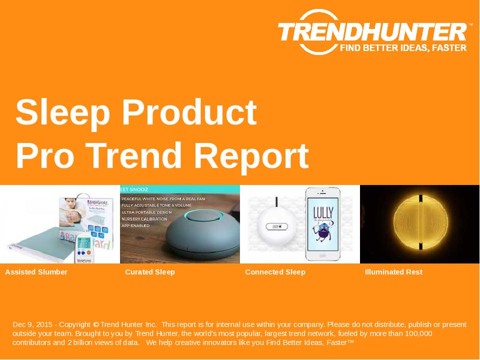 Sleep Product Trend Report Research
