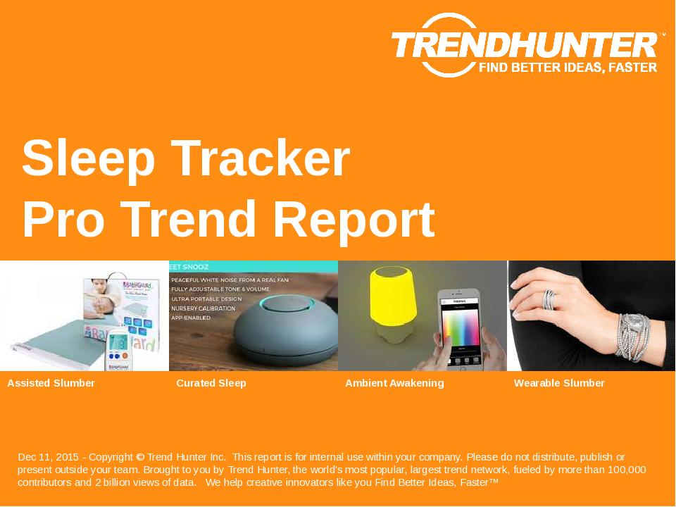 Sleep Tracker Trend Report Research