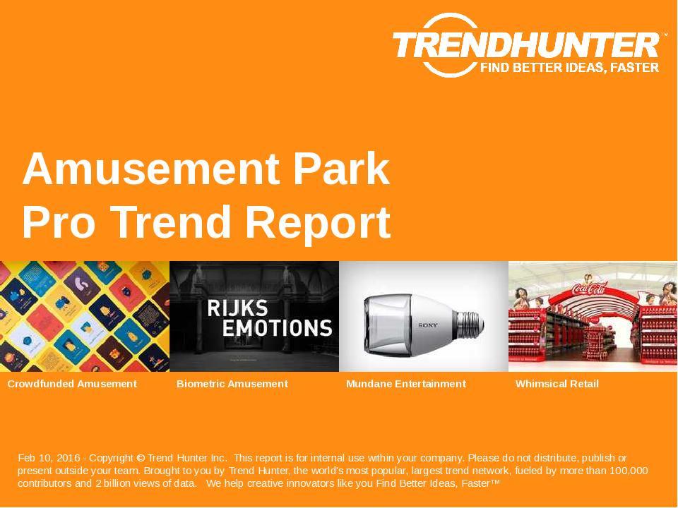 Amusement Park Trend Report Research