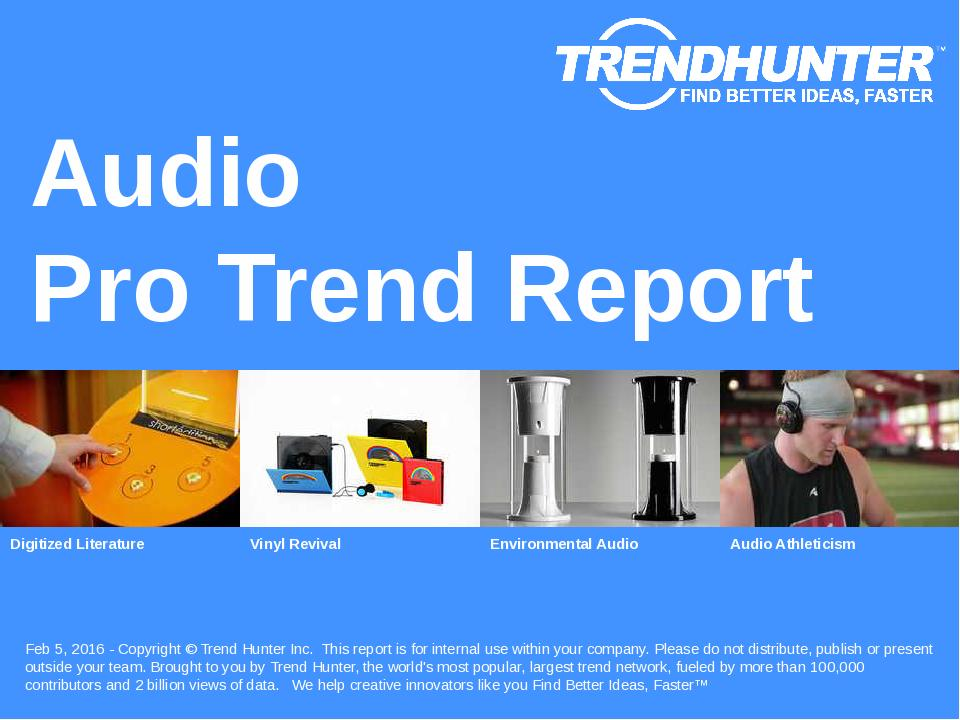 Audio Trend Report Research