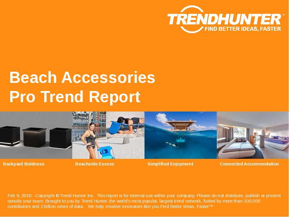 Beach Accessories Trend Report Research