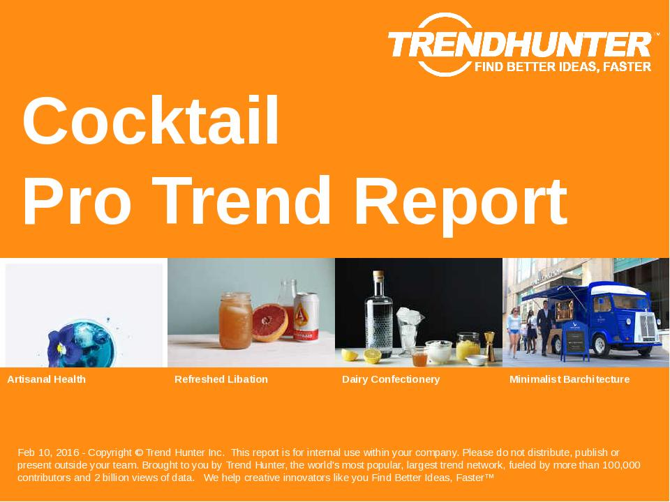 Cocktail Trend Report Research
