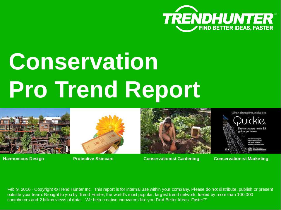 Conservation Trend Report Research