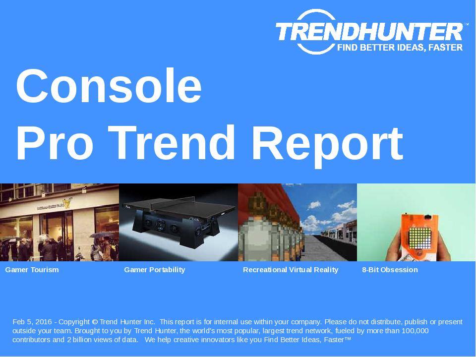 Console Trend Report Research